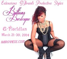 My GFloridian March 21-30 2014 from Orlando to Miami bookings available now: www.hairgynesis.com #Gbraids #Extensions #LaceWeaving #Versatilityweaving #Treebraids #gynesis #teamgynesis #gbraidsmohawk #customcutsandstyle #fillers #idoweavesto #flawlessweaves  Refer 6 friends and get a freebie and if you refer 10 you get a freebie and your friend gets 50%off.  What an awesome deal.Coming from Atlanta Ga by way growing your natural hair.  Don't forget to purchase my GSpray and GOO hair growth…