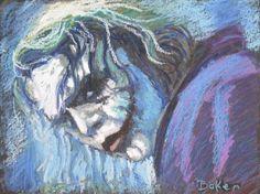 The Joker Heath Ledger BAtman Dark Knight  Comic Art