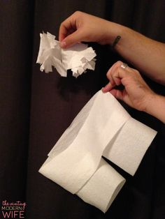 Tired of the same old boring games played at bridal showers? Try this hilarious game by The Vintage Modern Wife! It's the Best Bridal Shower Game Ever: Toilet Paper Lingerie! This particular set has Cottonelle tassels and shorts