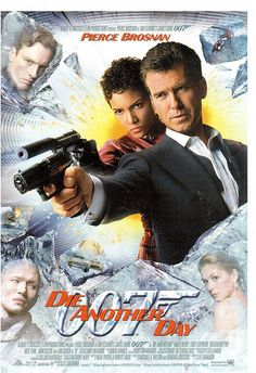 "Postcrossing LU-15395 - Card with poster of ""Die Another Day"" - a James Bond film starring Pierce Brosnan and Halle Berry. Sent by Postcrosser in Luxembourg."
