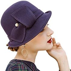 Cheap fedora hat, Buy Quality fedora hat women directly from China felt cloche hat Suppliers: Beckyruiwu Female Party Formal Headwear Lady Banquet Grace Irregular Fedora Hat Women Pure Wool Felt Cloche Hats Fedora Hat Women, Trilby Hat, Purple Accessories, Fashion Belts, Leather Cap, Cool Hats, Sun Hats, Hats For Men, Cloche Hats
