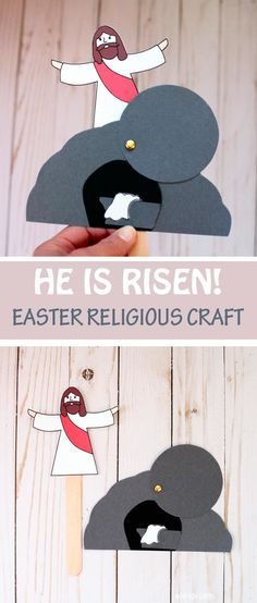 He Is Risen Craft - Easter Craft For Sunday School