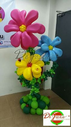 1000 images about balloon ideas on pinterest balloon for Balloon decoration ideas no helium