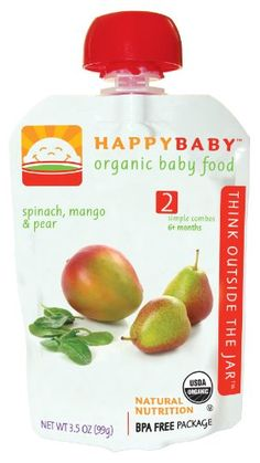 HAPPYBABY Organic Baby Food, Stage 2, Spinach, « Holiday Adds