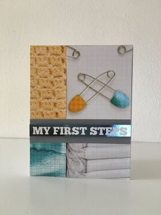 My First Steps blank card by MerciCadeaux on Etsy