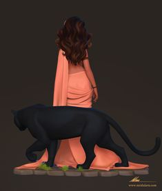 ArtStation - Ilesha and Axa, Mridul Sen Indian Women Painting, Indian Art Paintings, Girl Cartoon, Cartoon Art, Yoga Cartoon, Cartoon Painting, Cartoon Styles, Female Character Design, Character Art