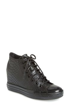 Converse Chuck Taylor® All Star® 'Embossed Reptile' Wedge Sneaker (Women) available at #Nordstrom