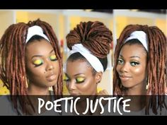 Ideas for diy box braids poetic justice Box Braids Hairstyles, Dreadlock Hairstyles, Natural Hairstyles, Poetic Justice Braids, Dreads, Colored Box Braids, Head Scarf Tutorial, Head Scarf Styles, Headband Styles