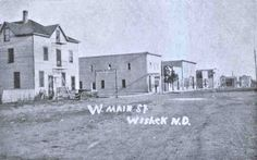 West main street, Wishek, North Dakota