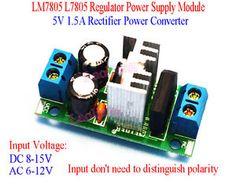 a new lm7805 l7805 regulator power supply module 5v 15a rectifier power converter