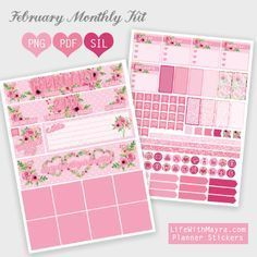 FREE February Planner Stickers BY* Life with Mayra