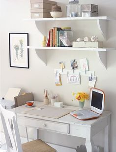 OK, basic.  Like this too.   Home office decoration ideas - Home office çalışanlar için 4 adımda dekorasyon