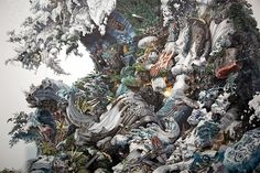 Meet the Artist Drawing Wall-Sized Illustrations of Cities and Natural Disasters | The Creators Project