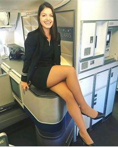 Airline Attendant, Flight Attendant, Air Hostess Uniform, Beauty Cabin, Flight Girls, Short Skirts, Mini Skirts, Killer Legs, Pantyhose Legs