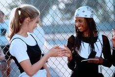 Alicia Silverstone (as Cher Horowitz) and Stacey Dash (as Dionne Davenport) Clueless (1995)