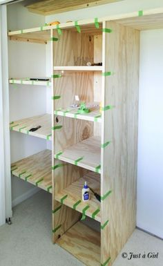 Diy Organization Bedroom Closet Storage Ideas Small Spaces New Ideas Bedroom Closet Storage, Small Closet Organization, Master Bedroom Closet, Diy Bedroom, Bathroom Closet, Diy Organization, Trendy Bedroom, Bedroom Small, Bedroom Ideas