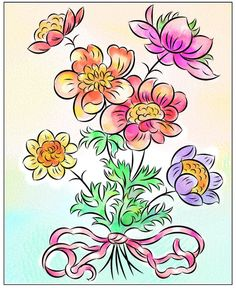 Nicole's Free Coloring Pages: March 2020 Fruit Coloring Pages, Horse Coloring Pages, Flower Coloring Pages, Mandala Coloring Pages, Fruit Flowers, Colorful Flowers, Spring Flowers, Tulip Colors, Winter Princess