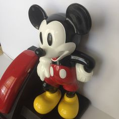 Vintage Mickey Mouse Disney Phone In Original Box with all paperwork, tested fully functioning by TheDustyWingVintage on Etsy