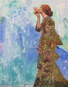 """Saatchi Art is pleased to offer the collage, """"Her Secret,"""" by Kanchan Mahon. Original Collage: Paper on N/A. Image Collage, Mixed Media Collage, Don Mendo, Art Et Illustration, Pretty Art, Medium Art, Love Art, Handmade Art, Oeuvre D'art"""