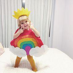 Rainbow costume . Disfraz arcoiris by clarabmartin