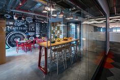 Setter Architects has developed the new offices of semiconductor research and development firm Broadcom located in Yakum, Israel. Broadcom is an Shop Interiors, Office Interiors, Italian Cafe, Office Pictures, Corporate Interiors, Design Blog, Store Design, Workplace Design, Office Interior Design