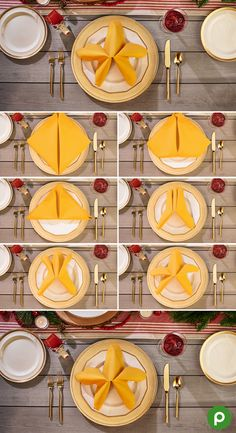 All you need to brighten up your Christmas table is a set of yellow napkins and this folding guide. Check out how easy it is to add a little cheer to your big holiday meal.