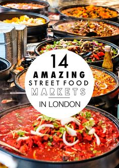 14 Amazing Street Food Markets You Have To Visit In London I recently discovered an amazing food market in London. It's in Leather Lane and has all sorts of food stall from all over the world which just entice you with the mouth watering sights and Essen In London, Street Food Market, Reisen In Europa, Voyage Europe, Food Stall, London Eye, London Street, Europe Street, London 2016