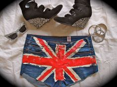#DIY #Jubilee bling and cut-offs shorts