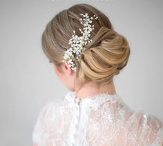 Bridal Pearl Hair Comb Wedding Hair Comb by PowderBlueBijoux, $89.00