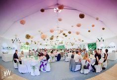 dekoracja namiotu weselnego