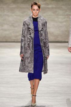 Bibhu Mohapatra Grey Persian Lamb Fur Coat