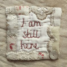 I already made a tiny piece with these words but felt the need to stitch them... To remind me of the me behind the mama... #motheringinstitches