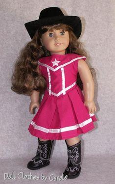 8fc1a5ff621 Pink Lone Star Cowgirl Dress Western Boots Cowboy Hat fit 18