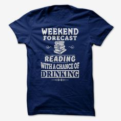 Reading with a chance of Drinking, Order HERE ==> https://www.sunfrog.com/LifeStyle/Reading-with-a-chance-of-Drinking-NavyBlue-Guys.html?29538, Please tag & share with your friends who would love it , #renegadelife #birthdaygifts #xmasgifts
