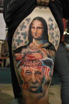 Albert Einstein on tattoos