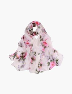 Look fashion sectioned shopify theme Motif Floral, Floral Scarf, Floral Patterns, Summer Scarves, Warm Scarves, Scarf Summer, Lightweight Scarf, Pashmina Shawl, Look Fashion