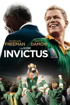 Invictus Movie Poster - Morgan Freeman, Matt Damon, Tony Kgoroge  #Invictus, #MoviePoster, #ClintEastwood, #Drama, #MattDamon, #MorganFreeman, #TonyKgoroge