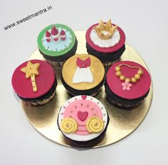 Barbie theme customized designer 3D cupcakes for girl's 1st birthday at Aundh, Pune