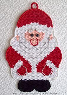 Santa pot holder - Little Owl's Hut