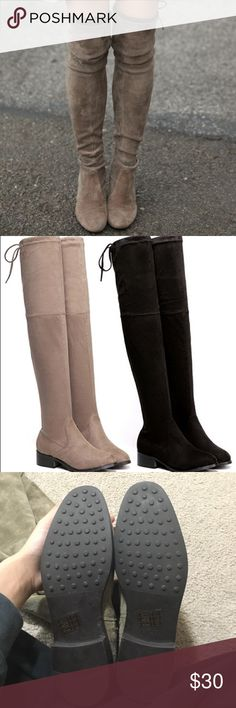 Over the knee boots NEW  taupe aldo over the knee boots! Never used. Retails for $60 Aldo Shoes Over the Knee Boots