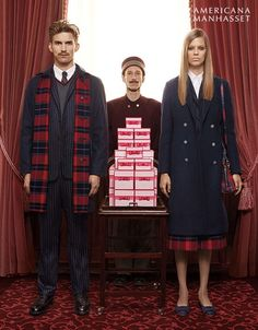 "Americana Manhasset Fall 2015 campaign starring Lexi Boling & RJ King pays homage to Wes Anderson's films ""The Royal Tenenbaums"" and ""The Grand Budapest Hotel"""