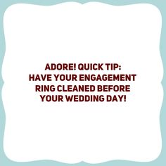 Be sure your engagement dazzles!!! #adore! #weddingtips #weddinginspirations #engagementring