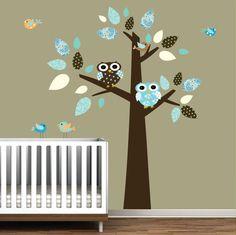 Children Nursery Tree Decal Wall Sticker Vinyl Wall by Modernwalls, $99.00 https://www.etsy.com/shop/Modernwalls