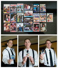 Unique groomsmen gift idea: Personalized baseball cards
