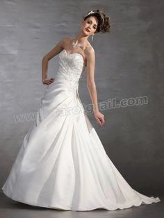 A-Line Strapless Sweetheart Neckline Dress With A Natural Waist  Dresses