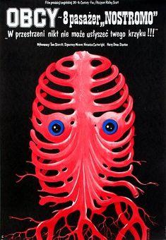ALIEN de Ridley Scott (1979)  #polonaise #polish #poster #affiche #pologne #poland #scott #alien #weaver #film