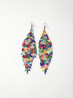 Boosiko https://www.etsy.com/listing/587304686/free-shippinglong-earringsbead-fringe