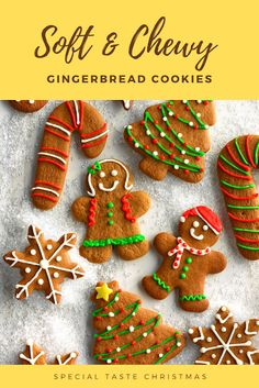 Desserts Our two boys linger around the kitchen when these aromatic cookies are baking. I make this gingerbread cookie recipe throughout the year using a variety of cookie cutters. Cookie Desserts, Cookie Recipes, Dessert Recipes, Gingerbread Man Story, Chewy Gingerbread Cookies, Ginger Bread Cookies Recipe, Silicone Baking Mat, Cut Out Cookies, Salsa Recipe
