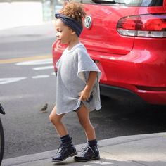 """Paparazzied in @nununubaby sweat top and a @rhkids headband. New blog post """"adiós summer"""" is now up. SCOUTTHECITY@gmail.com"""