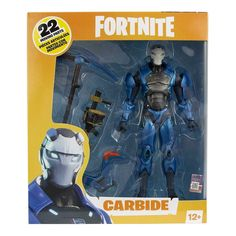 McFarlane Toys Fortnite Carbide 7 Inch Action Figure MISB for sale online Xbox, Harvesting Tools, Battle Royale, Building Games, Team Leader, Pvp, Epic Games, Stand Tall, Control